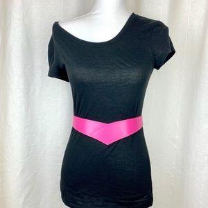 Vintage 80s V style belt pink/rose